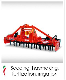 industrial screen print applications: seeding, haymaking, fertilization, irrigation