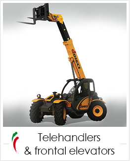 industrial screen print applications: telehandlers and frontal elevators